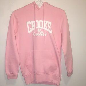 Pink Crooks&Castles hoodie